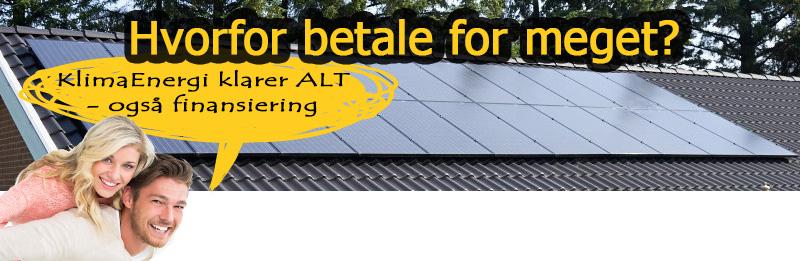 solcelleanlæg finansiering