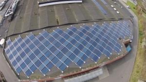 70 kWp solcelleanlæg installeret på SuperBrugsen Egtved sommeren 2014. Øst / vest retning for højest mulige udnyttelse af dagslys og døgnets solskinstimer