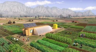 solcelleanlæg monteret på container