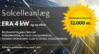 Kampagnetilbud på solceller